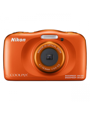 Nikon 09N-W150-ORANGE Digital Compact Camera-Image 1