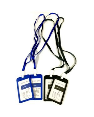 NAME BADGE WITH CLIP ROPE HORIZONTAL #308 ASSTD COLOR