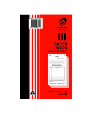ORDER BOOK TRIPLICATE #639 200MMX125mm