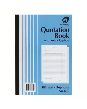 QUATATION BOOK DUPLICATE #650 A4 SIZE