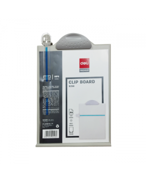 Clipboard A4 w/ ruler and stand -Grey