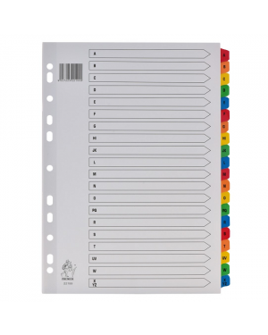Divider A-Z Tab Colour A4 Mylar Premier