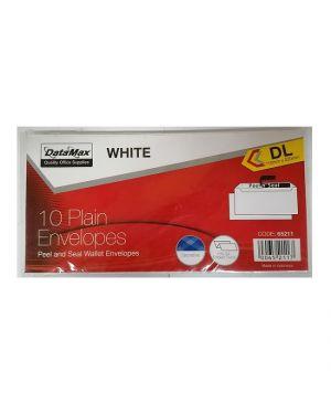 ENVELOPE 110MMX220MM WHITE 100/PK