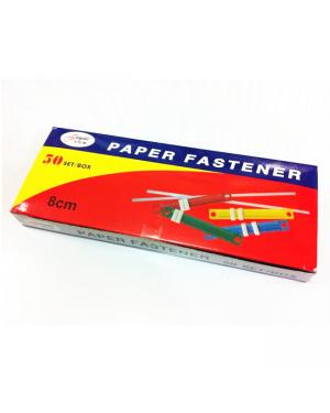 Metal fastener asst colour 50/pk