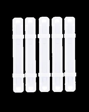 Fastener Plastic 80mm 50/Pk White