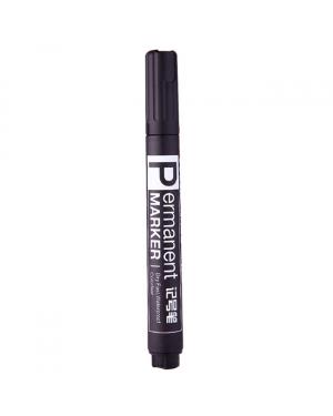 Marker permanent bullet tip Black 10/120/960