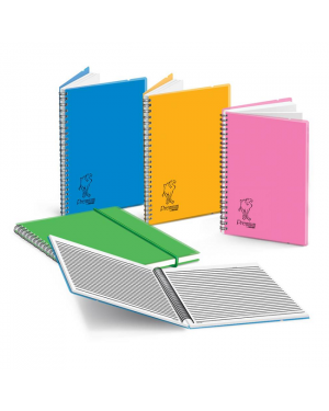 Elastic Band Notebook, 80Sheets Wire Opp Cover CA3272