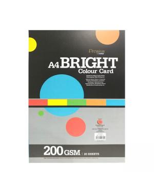 Bright A4 paper 20/pk-Orange