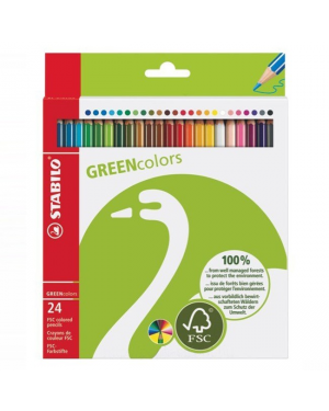 Colour pencil stabilo long -set 24