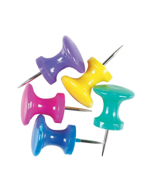 Push Pin Asst Color  Caphead CYL LRG