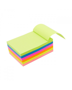 Sticky Note Pad, Neon, 4X6 Asst Color K6-1