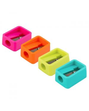 Pencil sharpener 4 colour 8mm 1 hole
