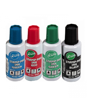 Stamp Pad Ink 30ML Asst Color Elite