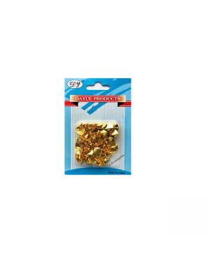 Thumb Tacks Gold/Brass 100/Pk-A