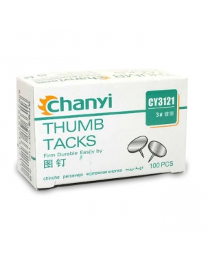 Thumb Tacks Gold/Brass CY3121 100/PK