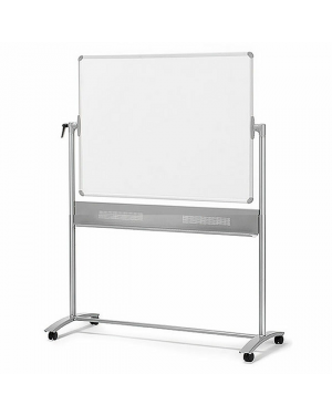Whiteboard 1500Mmx1200Mm Magnetic Reversible Nob Mobile