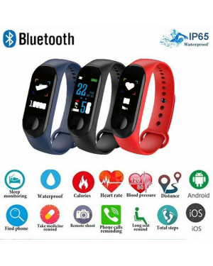 Bluetooth Sport Pedomete Fitness Trackers IP67Waterproof Smart Bracelet Watch AU-Image 1