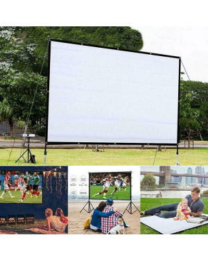 60 inch 4:3 3D HD 1080P Portable Projector Outdoor Cinema Theater-Image 1