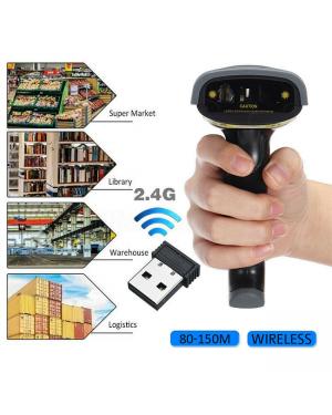 2.4G USB Wireless Barcode Scanner Handheld Bar Code Reader POS + Stand Holder-Image 1