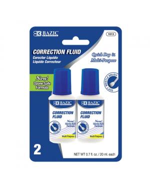 D - Bazic Correction Fluid / 20ml (Pack of 2) Britle Brush