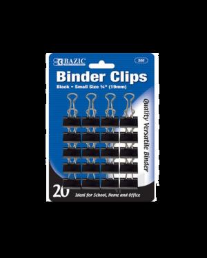 Paper Clip 19mm 20/Pk Bazic Black