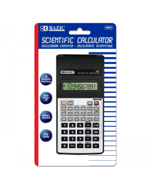 Bazic 56 function scientific calculator 10 digit with flip cover battery included