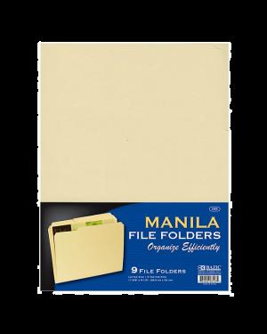 Manilla Folder Std Buff 9/Pk Bazic