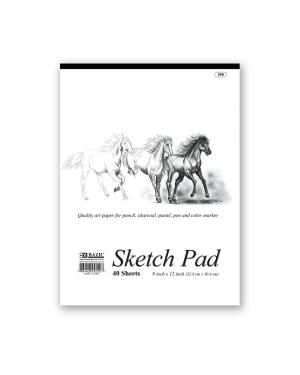 Bazic Premium Sketch Pad / 23cm x 30.5cm (40 Sheets)