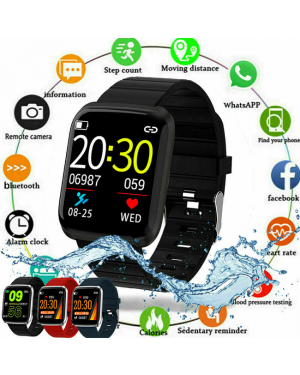 Waterproof bluetooth Smart Watch Heart Rate Monitor Wristband For iOS/Android-Image 1