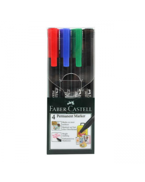 Marker Permanent -Slim Fine Tip Faber Castell Black