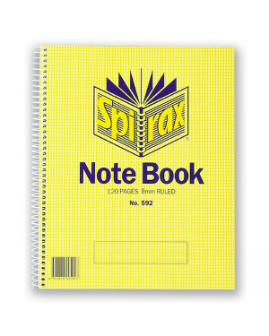 Spirax 592 Notebook 120 Pages 222X178