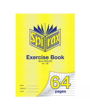Spirax 106 A4 Exercise book 64 pages 8mm