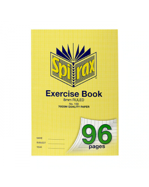 Spirax 108 A4 exercise book 96 pages 8mm
