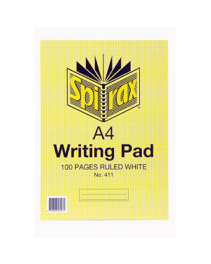 Spirax  A4 writing ruled  pad 100 pages