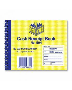 Cash receipt Spirax 504 quarto S/O
