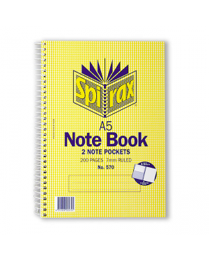 Spirax 570 Notebook Pocket A5 200 Pages