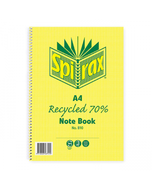Spirax 810 Notebook Recycled A4 120 Pages
