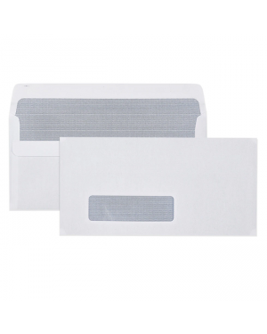 Envelope 110mmx220mm DL white window -SOLD PER PIECE