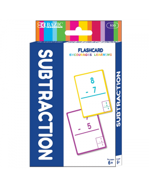 BAZIC Subtraction Flash Card Pack / Pack of 36