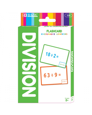 BAZIC Division Flash Card Pack / Pack of 36