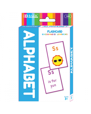BAZIC Alphabet Preschool Flash Card Pack / Pack of 36
