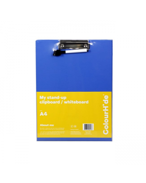 ColourHide A4 Clipboard/Whiteboard With Marker - Blue / A4 (Stand Up)
