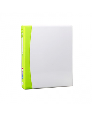 ColourHide Insert Softgrip A4 2D Ring Binder - Green / 200 Page Capacity (25mm Spine) In CDU