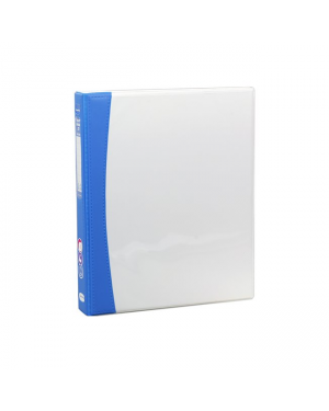ColourHide Insert Softgrip A4 2D Ring Binder - Blue / 200 Page Capacity (25mm Spine) In CDU