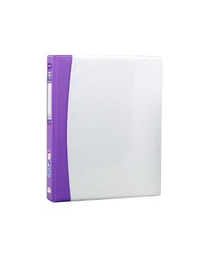 ColourHide Insert Softgrip A4 2D Ring Binder - Purple / 200 Page Capacity (25mm Spine) In CDU
