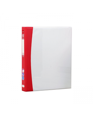 ColourHide Insert Softgrip A4 2D Ring Binder - Red / 200 Page Capacity (25mm Spine) In CDU
