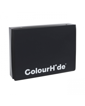 ColourHide Zipper Box File - Black / 500 Sheets Capactiy (In CDU)