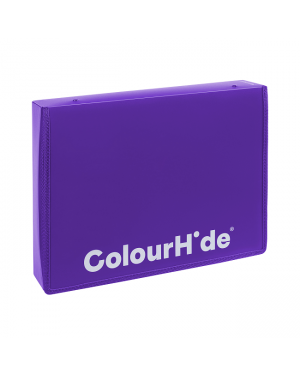 ColourHide Zipper Box File - Purple / 500 Sheets Capactiy (In CDU)