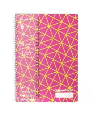 ColourHide A4 Designer Note Book - Pink Geo / 120 Page