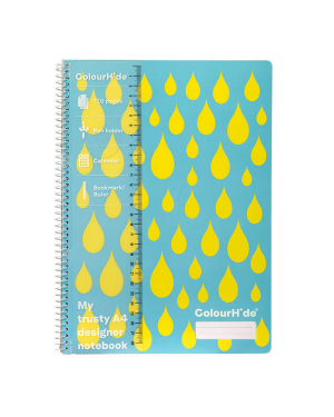 ColourHide A4 Designer Note Book - Yellow Drops / 120 Page